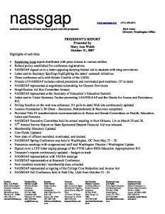 NASSGAP Presidents report pdf 1 - NASSGAP-Presidents-report-pdf-1