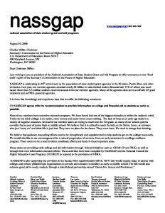 NASSGAP letter to Miller 8 9 06 pdf 1 - NASSGAP-letter-to-Miller-8-9-06-pdf-1