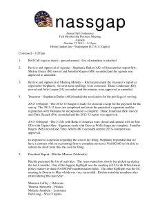 NASSGAPBusinessMeetingMinutesFall2013 pdf 1 - NASSGAPBusinessMeetingMinutesFall2013-pdf-1