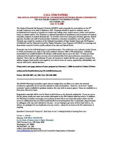 SFARN 2007 CALL FOR PAPERS pdf 1 - SFARN-2007-CALL-FOR-PAPERS-pdf-1