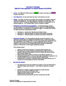 Summary of Changes FAFSA 09 08 08 pdf 1 - Summary-of-Changes-FAFSA-09-08-08-pdf-1