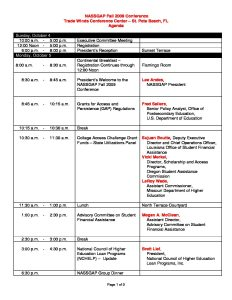 Agenda NASSGAP Fall 2009 final pdf 232x300 - Agenda-NASSGAP-Fall-2009-final
