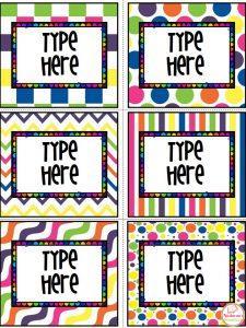 editable labels for classroom free nastaran s resources