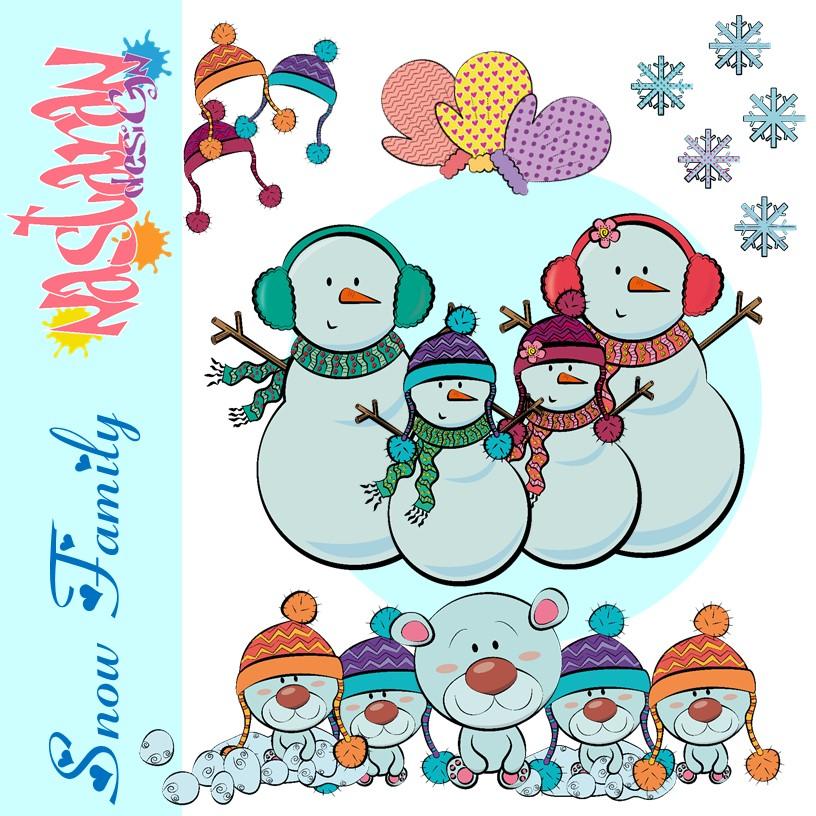 Snow Family Clipart