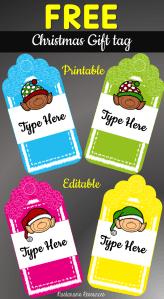Free Printable and Editable Christmas Gift Tags!