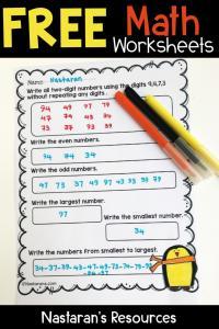 Free Math Worksheets#math#kindergarten#worksheets