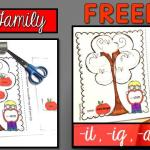Free Word Family Activity