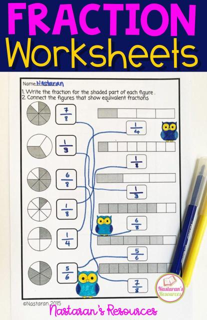 Factions Activities For 3rd grade! Printable worksheets include Fractions in a set ,Equal parts ,Fractions on the number-line ,Equivalent fractions ,Comparing fractions and equivalent fractions. Great for morning work or early finishers. Fun for students and print and go for teachers. Use these practice pages for morning work or even send home as homework. #fraction #3rdgrade #math #mathactivities # mathworksheets #3rdgrade