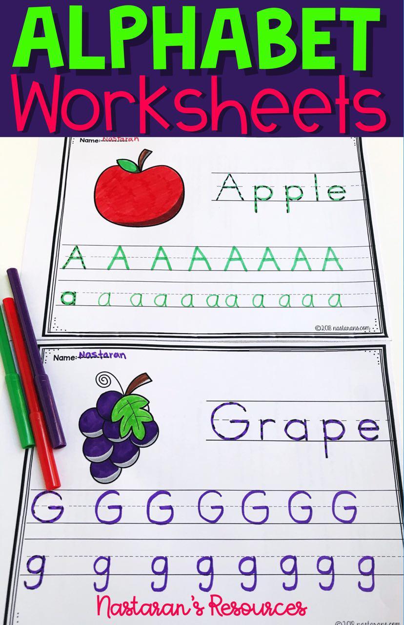Printable Alphabet Worksheets A-Z For Kindergarten