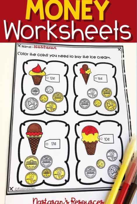 money worksheets nastaran 39 s resources. Black Bedroom Furniture Sets. Home Design Ideas