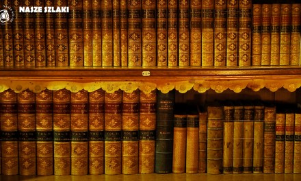 Tapeta z biblioteki w Tyntesfield w Anglii