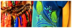Azja-Malezja-wyspa-Penang-Batik-Craft-wosk-malowanie-farbowanie-produkty-kolorowe-materiały
