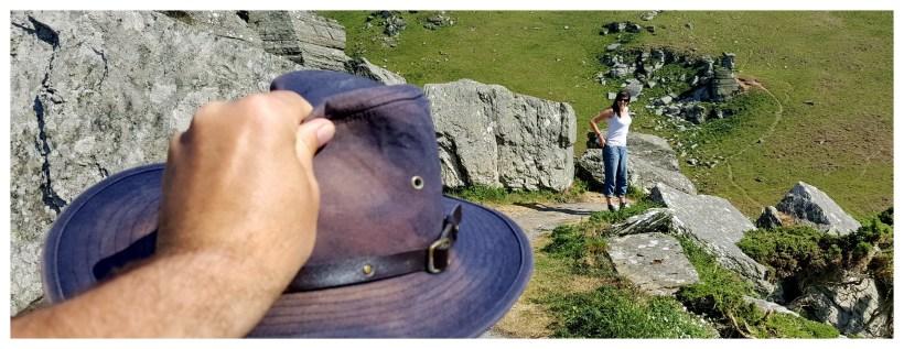 Kapelusz - Valley of rocks, Anglia