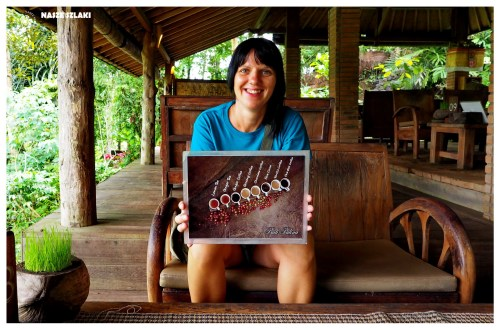 Zestaw kaw do smakowania w kawiarni na Bali w Indonezji
