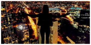Australia - Melbourne widziane nocą