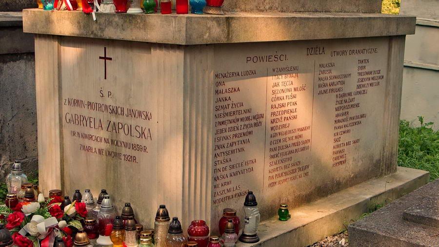 Ukraina - Lwów i Cmentarz Łyczakowski Gabriela Zapolska