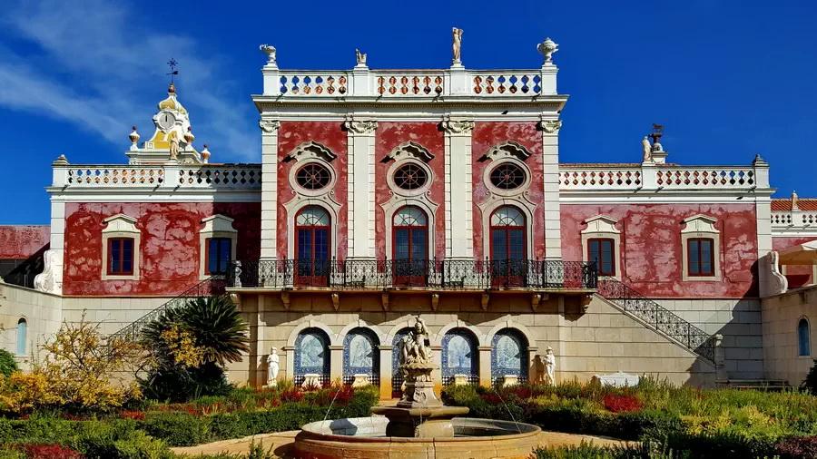Atrakcje w okolicach Faro - Ruiny Villa Romana i pałac Palácio de Estoi