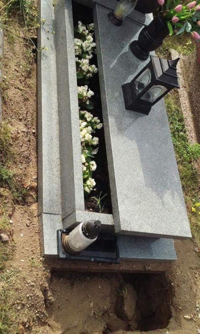 Zniszczenia na cmentarzu po nocnej wichurze