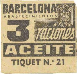 Food cupon post Spanish Civil War