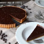 Dulce de Leche and Chocolate Tart, Two Birthdays, and a Potting Party