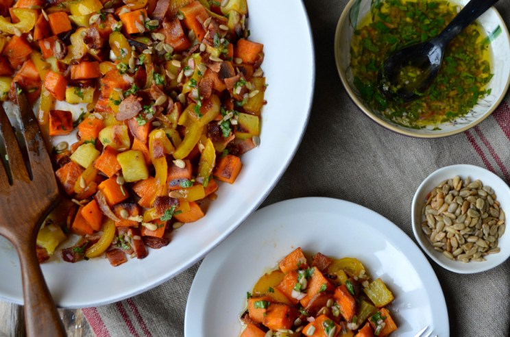 Sweet potato salad with sherry dressing, Mama ía