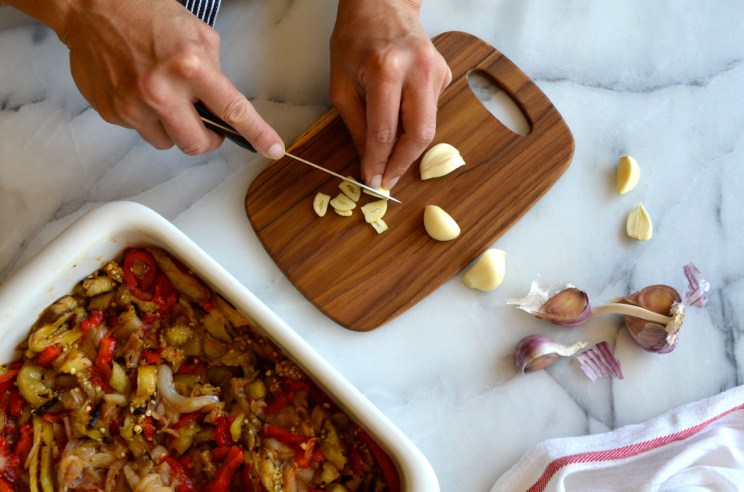 Roasted red pepper eggplant cod esgarraet, Mama ía blog
