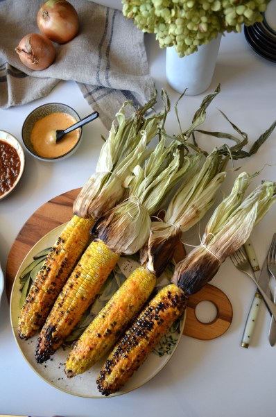 Grilled corn with ñora allioli, Mama ía blog