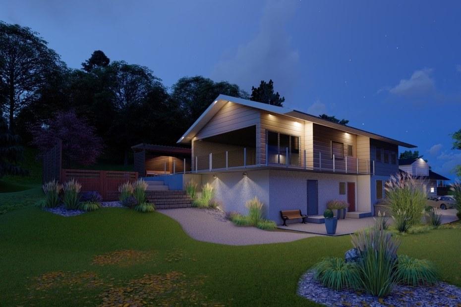Belysningsplan villa - Natalia Lindberg trädgårdsdesign