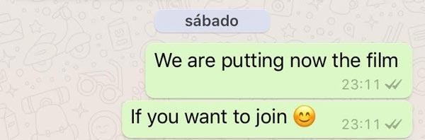 WhatsApp Message Film
