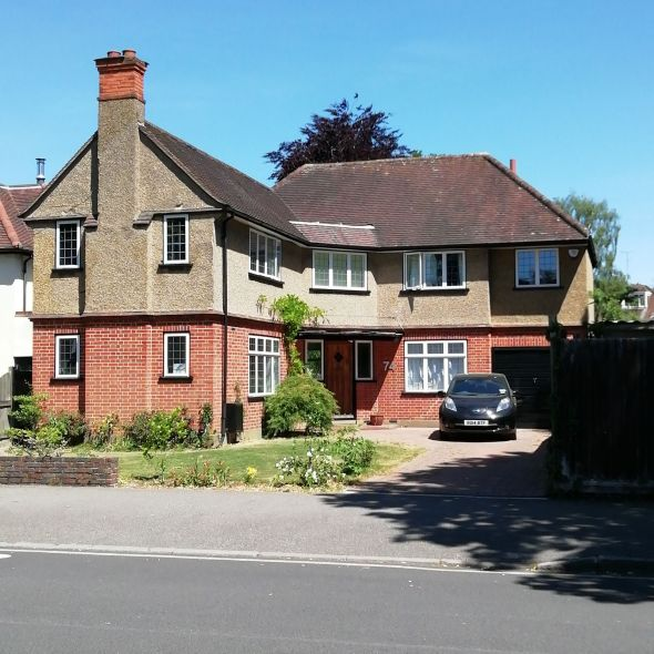 The front garden at Cassiobury Drive
