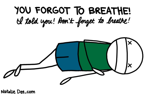 Out Breath Funny Cartoon