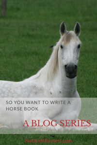 You can write a horse book! This blog series will help aspiring writers put their equestrian novel together, from bestselling author Natalie Keller Reinert.