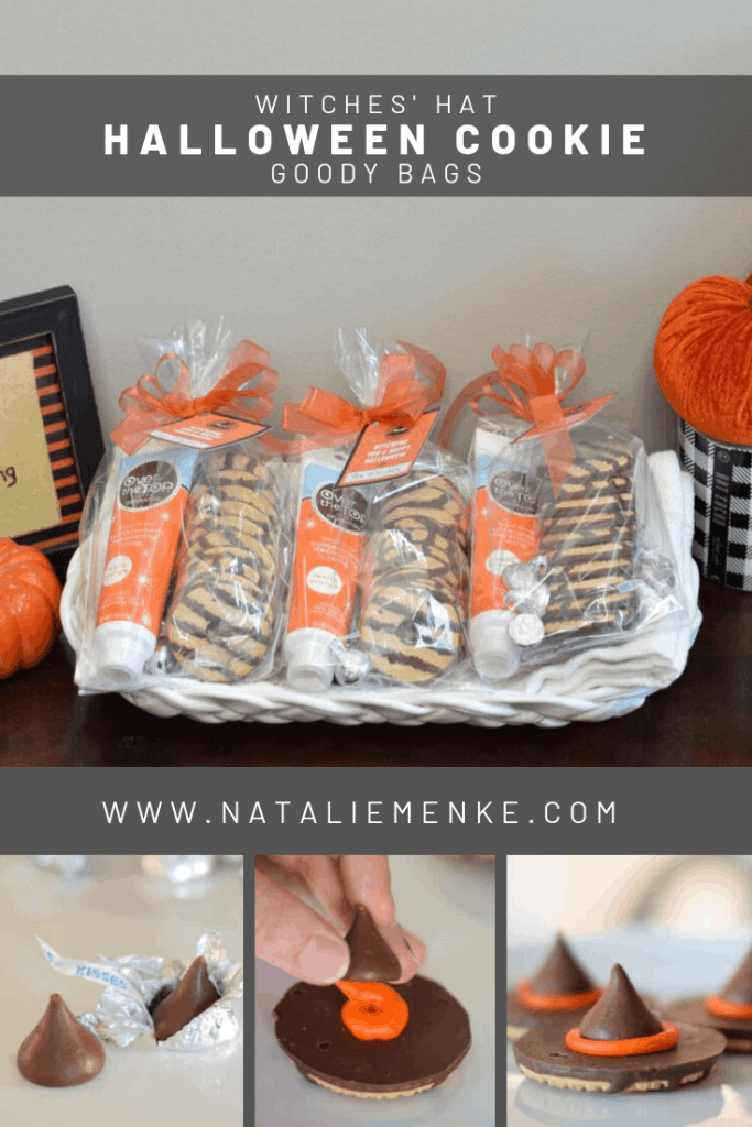 Make your own Witches' Hat Halloween Cookie Goody Bags for the special kids in your life. For all the details visit www.nataliemenke.com