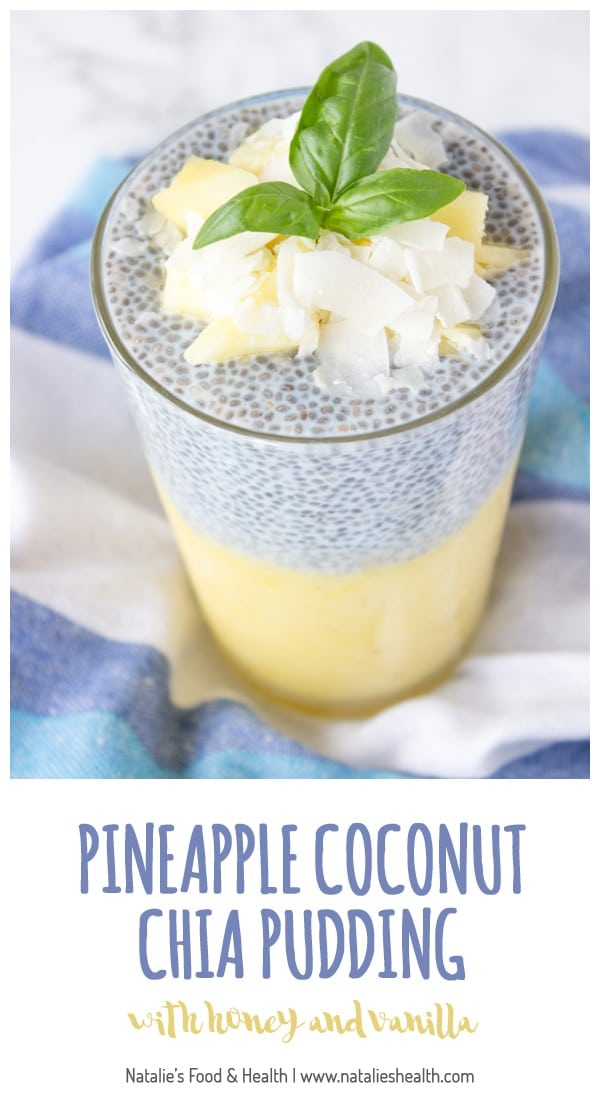 Refreshing and very nutritious, tropical pineapple coconut chia pudding is an ultimate healthy meal. Packed with high-quality proteins, fibers, healthy omega-3 acids and vitamins, you can serve this chia pudding as healthy breakfast or refreshing summer dessert. Clik to READ MORE or PIN for later!