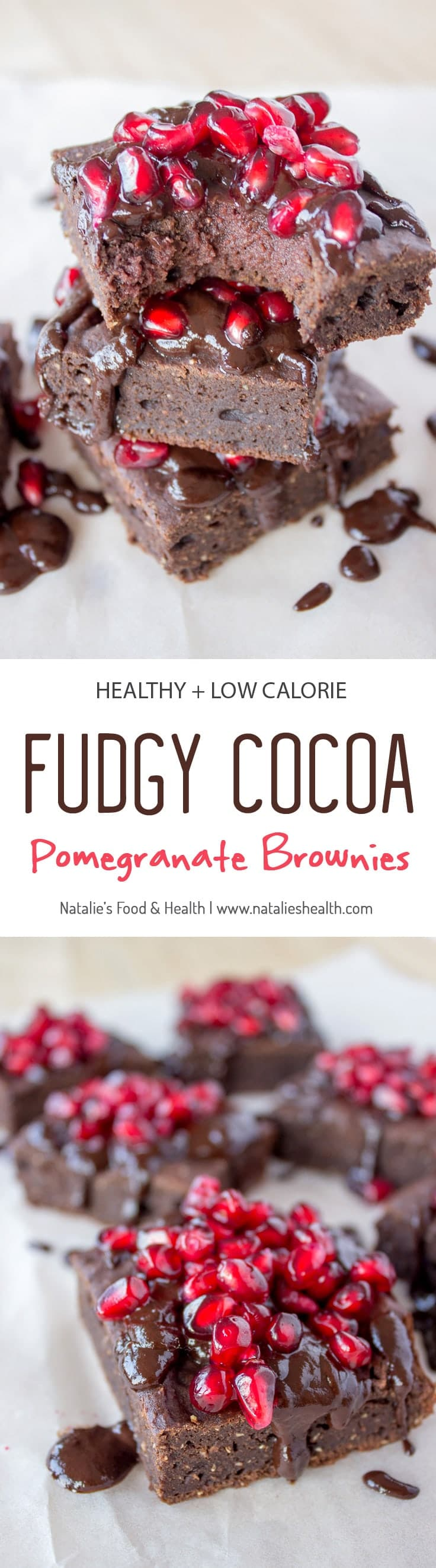 Full of luxurious dark chocolate flavor, made with all healthy ingredients these Fudgy Cocoa Pomegranate Brownies are the pure cocoa pleasure. Soft and fudgy, enriched with warm aromatic spices, this melt in your mouth dessert will surely delight you. CLICk to grab recipe or PIN for later!