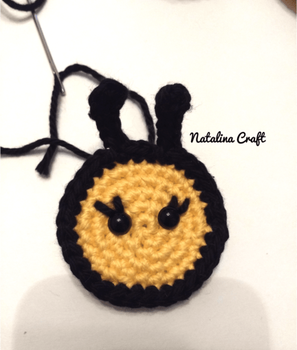 Free Crochet Patterns Appliques Bees Natalina Craft