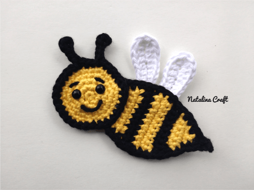b0a01765016 Free crochet pattern  Appliques - Bee (family of bees!)