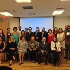 Durante a abertura do III Encontro Mundial de Escritores Brasileiros no Exterior. Consulado do Brasil, Nova York, 1.09.2015.