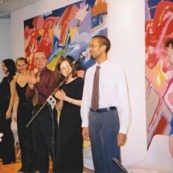 O Vasto Coração de Carlos. Com Najla Andrade, Tereza Araújo, Hector Caldas, Hilda Eusébio e Jonathan Preiss. Embaixada do Brasil, Londres, 24.10.2002.