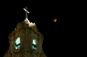 Downtown Riverside | 2014 Lunar Eclipse