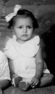 My mom, when she was just teeny.
