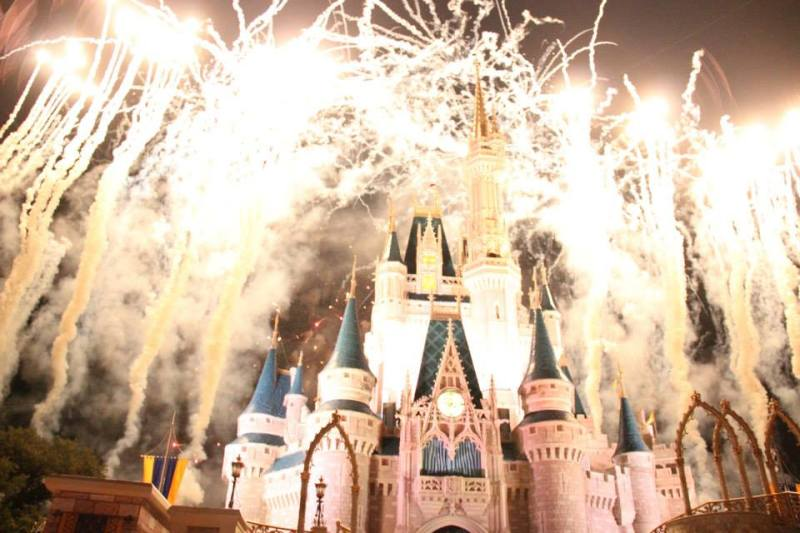 Show de fogos de encerramento do Parque Magic Kingdom