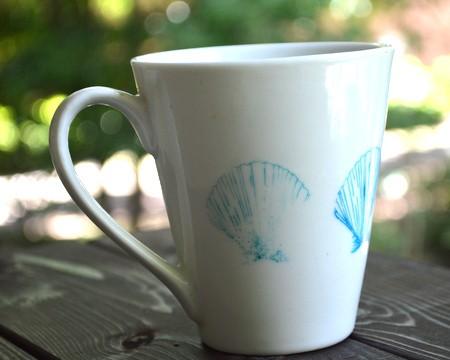 Shell stamped mug