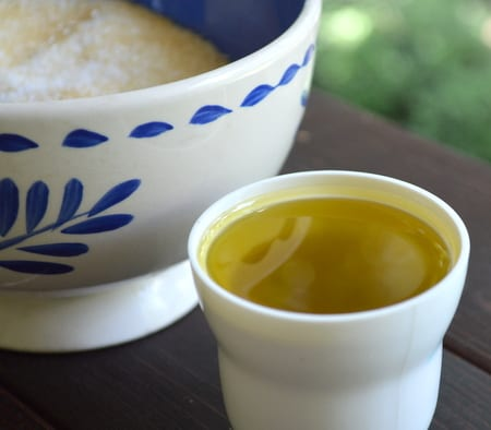 olive oil for sugar scrub