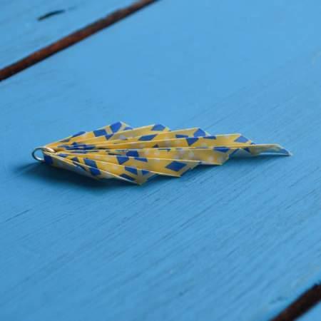 oragami leaf earring