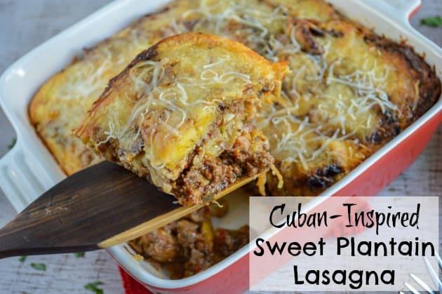 Cuban-Inspired Sweet Plantain Lasagna