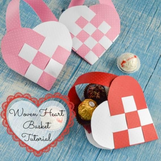 Woven Valentine's Heart Basket Tutorial