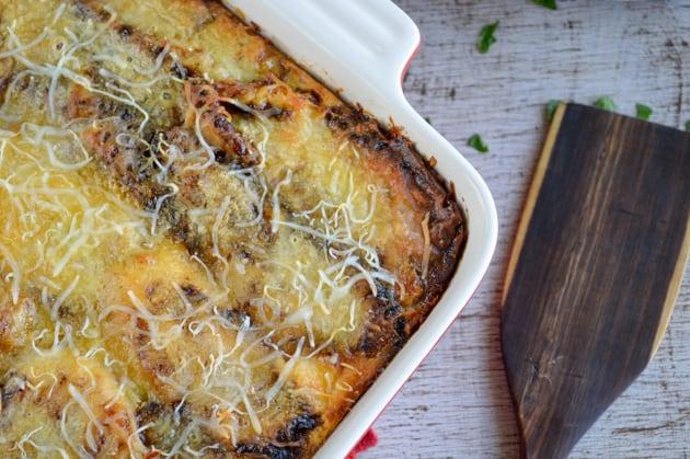 freshly baked plantain lasagna
