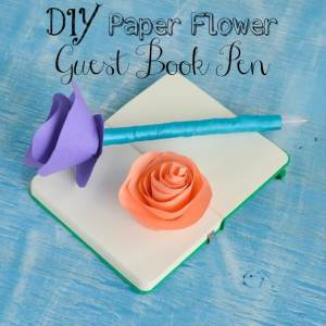 DIY Paper Flower Guest Book Pen