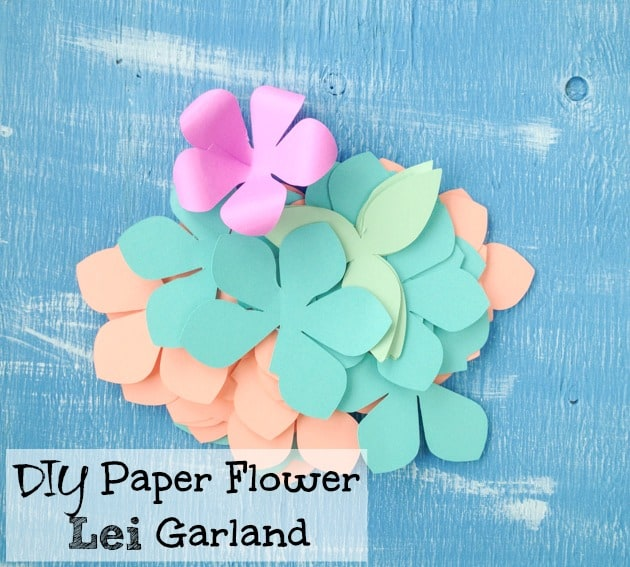 Diy paper flower garland lei tutorial with free printables and diy paper flower lei garland mightylinksfo
